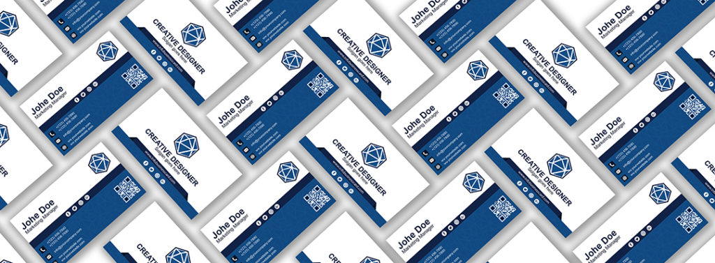 Free Grid Brand Business Card Mockup 2